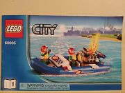 Lego City 60005 Fire Boat Instructions Only