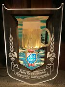 Vintage Beer Sign Lighted Bubbler Old Style Lake Scene 1980's Employee Owned