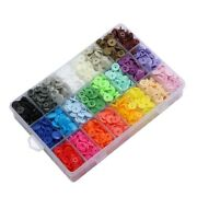4x408 Sets Plastic Snap Buttons No-sew T5 Snaps With Organizer Storage Case