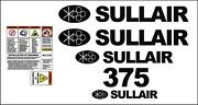Sullair 375 Decal Kit With Draw Bar And Safety Decals Air Compressor Stickers