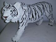 Large Standing White Tiger 16 Collectible Wild Cat Animal Tiger King Statue New