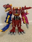 Power Rangers Dino Charge Megazord W/ T-rex Charger And Helmet Complete