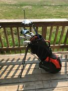 Complete Golf Club Set And Bag, Taylormade R5, Titleist, Warrior And More