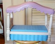 Vintage Little Tikes Bed My Size Barbie Dollhouse Doll House Purple Canopy