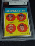 1963 Topps Pete Rose Rc Bvg 5 Excellent