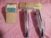 1966 Chevy Impala Caprice Wagon Nos Rear And Front Accessory Bumper Gaurds