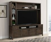 Parker House - Tempe - Tobacco 84 In. Tv Console With Hutch And Back Panel - ...
