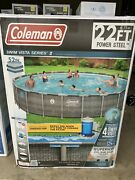 🌊coleman Power Steel 22and039x52 Above Ground Swimming Pool W Pump And Ladder🌊 Local
