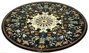 42 Inches Multi Color Stones Inlaid Conference Table Top Marble Dining Table Top