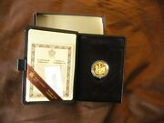 1983 Canada 100 Gold Proof Gilberts Landing Commemorative Coin W/ Case