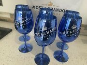 🍾moet And Chandon Champagne Blue Luxury Glasses X6🍾