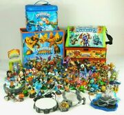 Huge Skylanders Lot 89 Figures 5 Cases 4 Bases- 1 Wii 3 Any Console All Complete