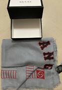 Nwt 900 Menandrsquos Shawl Angels Scarf Lead/red Italy