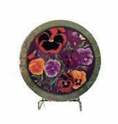 Vintage Pansy Tin Floral Sewing Crafts Candy Treats Display Toys Prop Jewelry