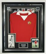 George Best Of Manchester United Signed Photo With Shirt Autograph Display