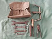 Fiat Topolino Belvedere 500 C Tool Kit Bag Wrench Pliers A B 1100 Balilla 600 10