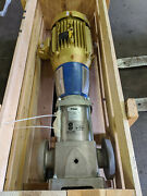 Goulds Model Esv Ss Multistage Inline Booster Pump 3/1 Stages 20 Hp + New Seal