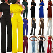Women's Formal Jumpsuit Rompers Wide Leg Trousers Pants Evening Party Playsuits