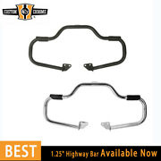 1.25front Highway Bar With Footrest Fit For Harley Dyna Low Rider Fat Bob06-17