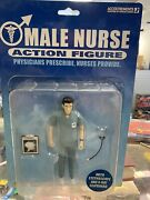 2004 Accoutrements 5 Male Nurse Action Figure With Stethoscope And Clipboard