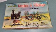 Marx Ho Miniature Playset Knights And Vikings Toy Soldier Set In Original Box