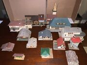 Vintage Ho Scale Buildings, Lot, Faller Buildings, 1950's Some Are Rare