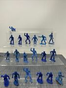 Vintage 1960s Lot Of Blue Mpc Marx Ring Hand Civil War Army Figures 19 Mixed W2