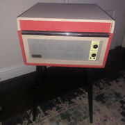 Vintage Crosley Pink Record Player With Power Cord