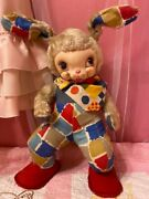 Vintage Rushton Rubber Face Plush Doll Bunny 16 Inchbody Only Tag