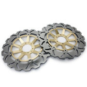 Gold Pair Front Brake Disc Rotors For Honda Crf1000l Africa Twin 2016-2020 19 18