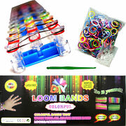 Loom Band Kit Creation Complete 600 Elastic + Profession To Bands+24 S Clip +