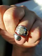 Vintage Sterling Girl Scout Spoon Ring And 2 Lapel Pins