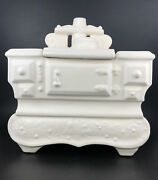 Vintage Mccoy White Cook Stove Cookie Jar Made In The Usa