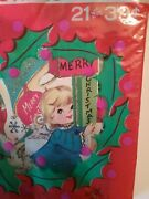 Vintage Christmas Cards Package Of 21 Doubl Glo Unopened Nos Nip Very Rare