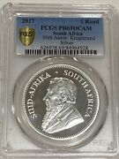 2017 Krugerrand 50th Anniversary Pr69dcam Silver Proof Pcgs Gold Shield