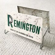 Vintage Remington Tires Gas Station Tire Stand Display Rack Advertising Sign