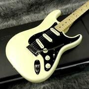 Used Fender Usa American Deluxe St Type White N3 Olympic Pearl Free Shipping