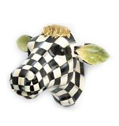 Hand-painted Resin Checkered Cow 13w X 16d X 9t Hcnm M21