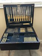 Antique Silver Epns A1 Cutlery Canteen105 Pcslarge Mahogany Caselockdrawer