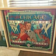 1976 Bally Old Chicago Pinball Machine Head Only And Backglass