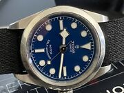 Tudor Black Bay Blue Womenand039s Watch With Stainless Steel - M79580-0006 32mm Nice