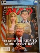 Cgc 9.0 Trump Mad Magazine August 2017 Take Your Kids To Work Every Day Graded