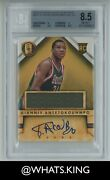 2013 Panini Gold Standard Giannis Antetokounmpo Rpa Bgs 8.5 Rookie Patch Auto