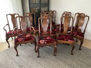 Set Of 12 Kittinger Williamsburg Baroque Style Dining Chairs Cw-142