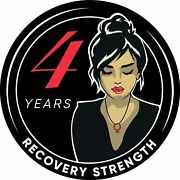 Woman Serenity 4 Year Aa/na Sobriety Medallion - Tri-plate Four Year Chip/coin