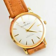 Vintage 60s Seiko Gyro Marvel Gold Watch J14051 Serviced Nos Dead Stock Cal.290