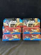 Star Wars Hot Wheels R2-d2 And C-3po Character Cars 2014 Toy Car Set 2-pack X4