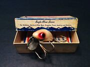 Vintage Fishing Lure Box And Insert Wright And Mcgill Co. Miracle Minnow