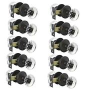 Diamond Crystal Glass Door Knobs With Oil 10 Pack Privacy Knobbed/bath