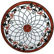 30 Inches Beautiful Design Center Table Top Round Marble Coffee Table Home Decor